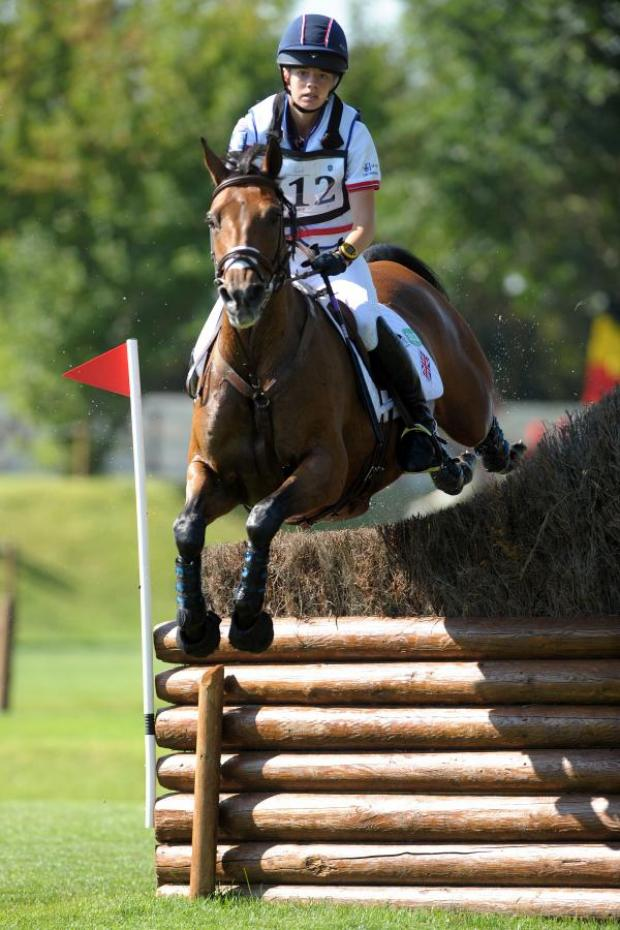 This Is Wiltshire: Chelsea Pearce and Catherston Nutsafe at last year's European Championships (Picture by Helen Revington)