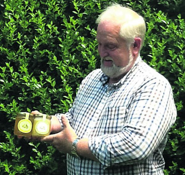 This Is Wiltshire: Fred Swift, the Wiltshire Beekeeper, with jars of honey