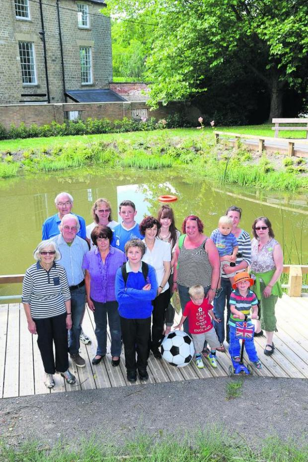 This Is Wiltshire: Wroughton residents at the Moat Pond
