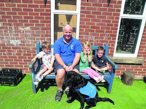 This Is Wiltshire: George McCaffery and Rhana meet children at St Mary's Pre-school