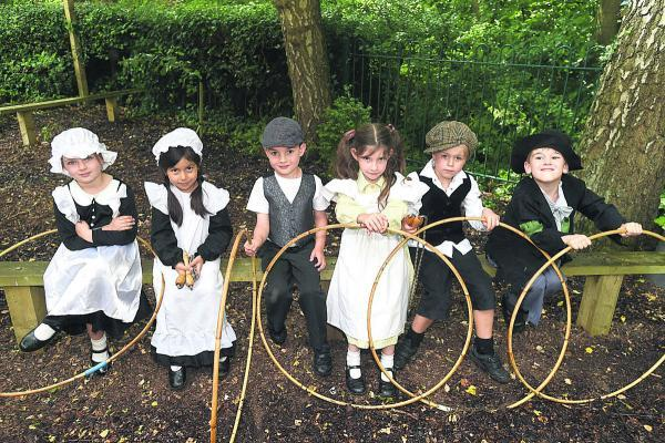 This Is Wiltshire: Emily, left, Maya, Charlie, Luca, Max and Louis dressed up for the day           By Diane Vose (DV1439)