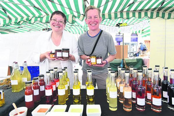 This Is Wiltshire: Ali Smith and Trina Swan from Tiddleywink Treats based in Chippenham. Picture by Diane Vose