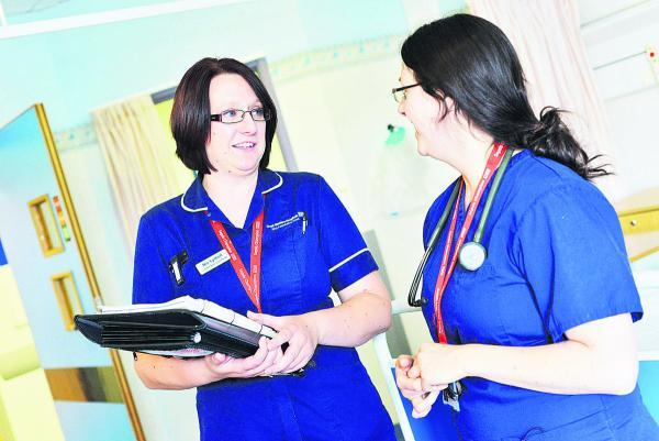 This Is Wiltshire: Specialist sepsis nurse Nic Lythell with Deborah Mann