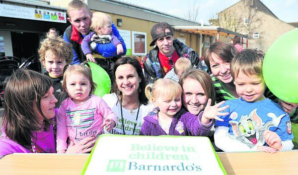 This Is Wiltshire: Barnardo's Robert Le Kyng Children's Centre celebrating its 5th anniversary back in 2011. The building may now be adapted for community use