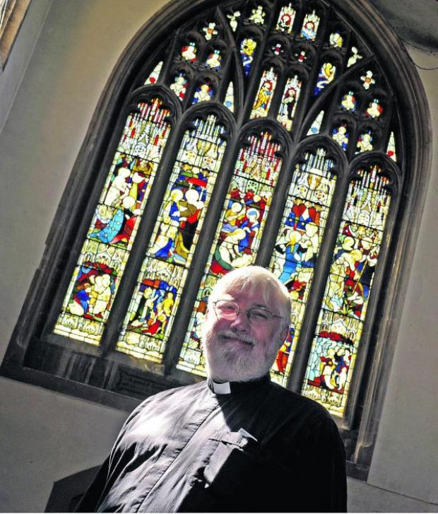This Is Wiltshire: The Rev Bob Kenway says services had to be moved to Holy Trinity Church in the winter