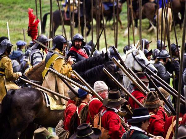 This Is Wiltshire: Members of the English Civil War Society take pride in the historical accuracy of their costumes