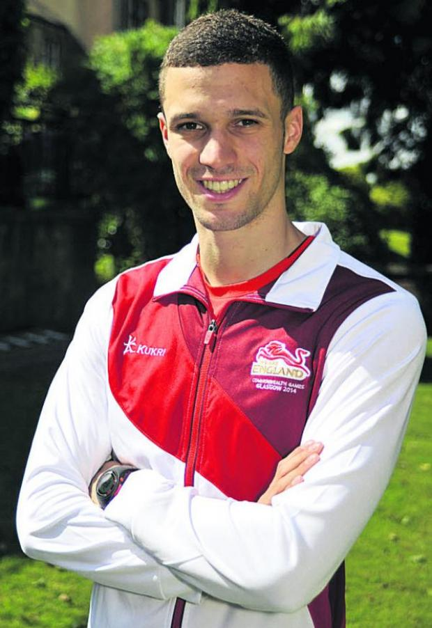 This Is Wiltshire: British 200m champion Danny Talbot will run for England at the Commonwealth Games in Glasgow