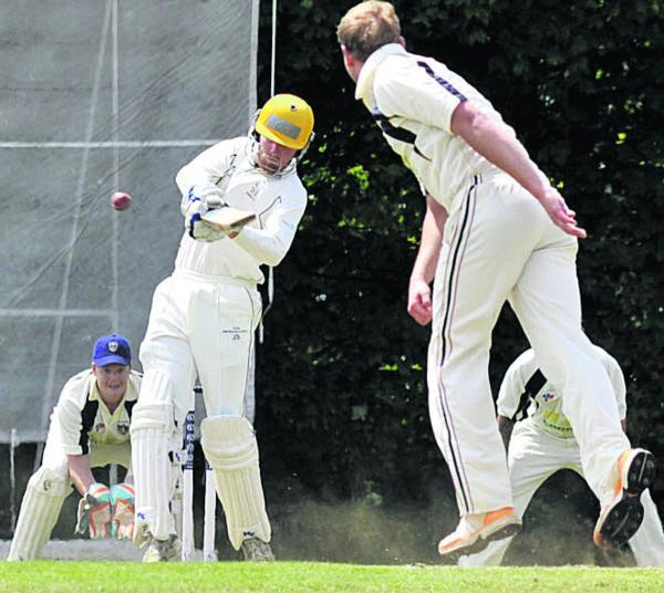This Is Wiltshire: Winsley's Jeremy Smith hits out against the bowling of Aaron Lee