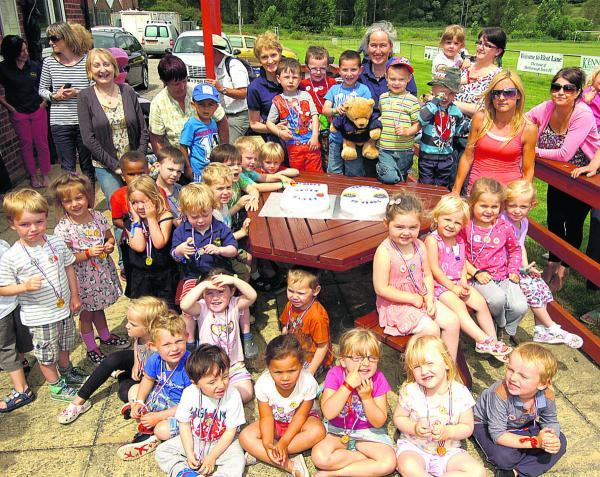 This Is Wiltshire: St Mary's pre-school celebrates its 50th anniversary                                         (PM1340) By Paul Morris
