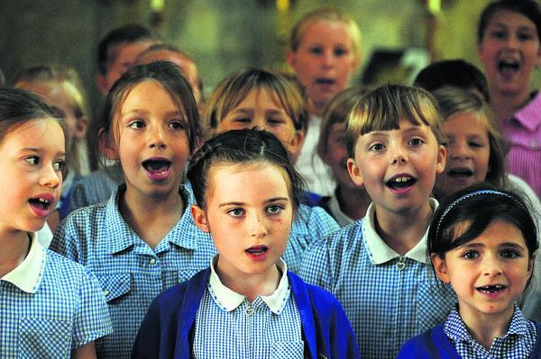 This Is Wiltshire: Southbroom St James pupils sing at St Mary's Church, Devizes