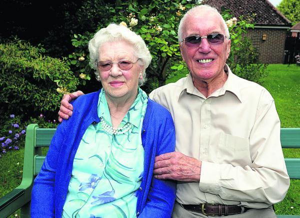 This Is Wiltshire: Ted and Marian Giddings mark their anniversary