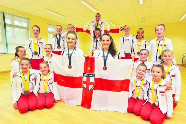 This Is Wiltshire: Swindon Academy of Dance students who were part of team at England Dance World Cup