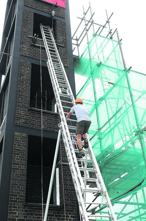 This Is Wiltshire: Keith scales the ladder