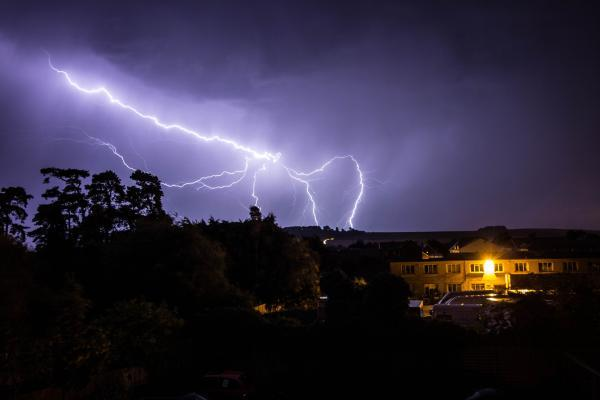 This Is Wiltshire: Chris Watkins sent us this picture of lightning over Roundway last night