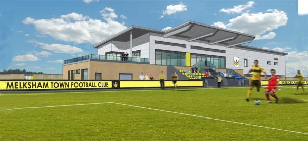 This Is Wiltshire: An artist's impression of the new Melksham Town Football Club stadium