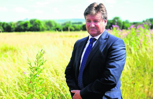 This Is Wiltshire: The chief executive of Capital Land, Jeremy Francis, who is representing half the landowners of the Eastern Villages development near Wanborough
