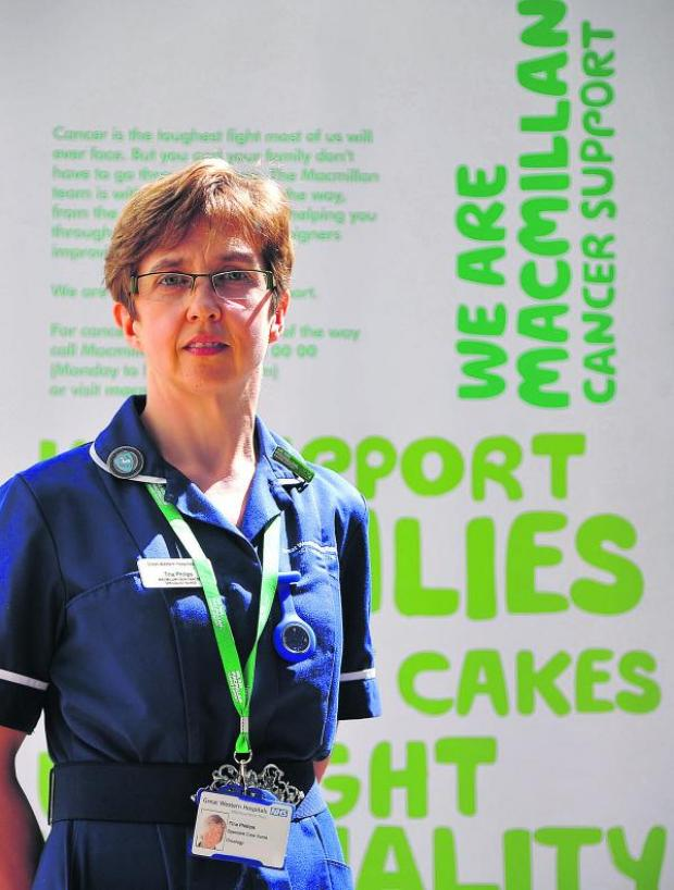 This Is Wiltshire: Macmillan nurse Tina Phillips is urging people to take care on holiday