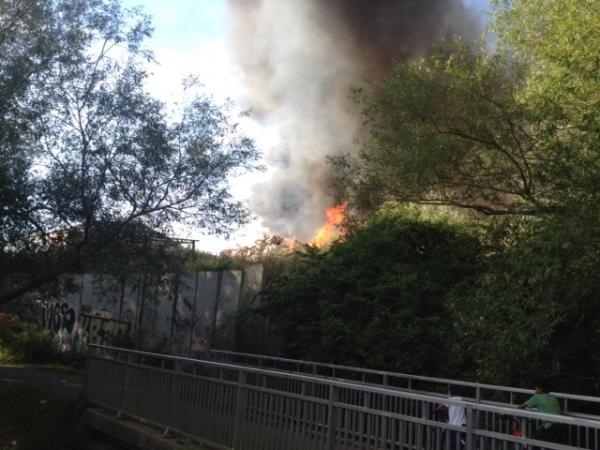 This Is Wiltshire: Firefighters currently battling large blaze at recycling plant