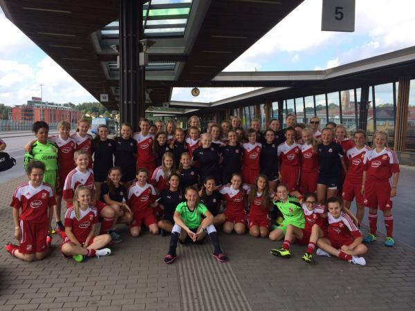 This Is Wiltshire: Swindon Town Girls Centre for Excellence teams in Sweden
