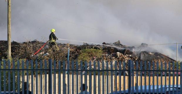 This Is Wiltshire: Fire fight goes on at recycle site