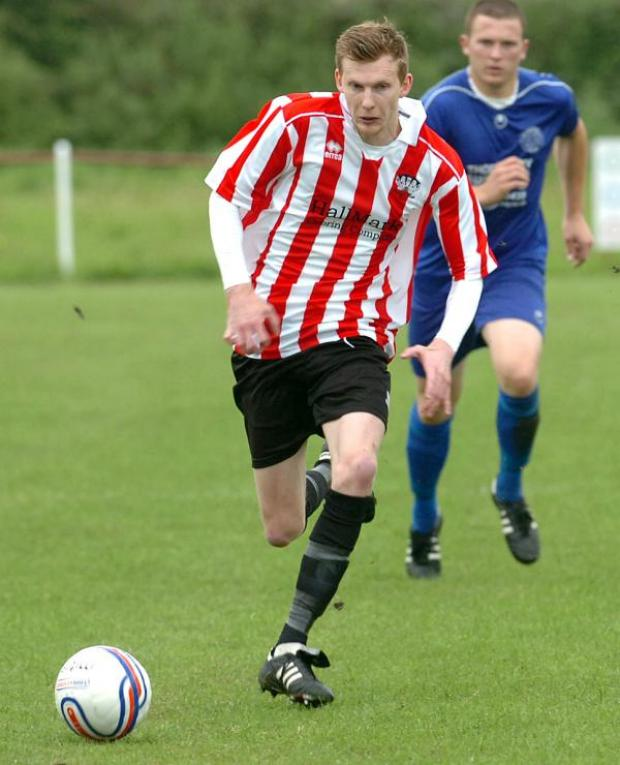 This Is Wiltshire: Mark Barnes hit three goals for Devizes Town as they beat Purton last night