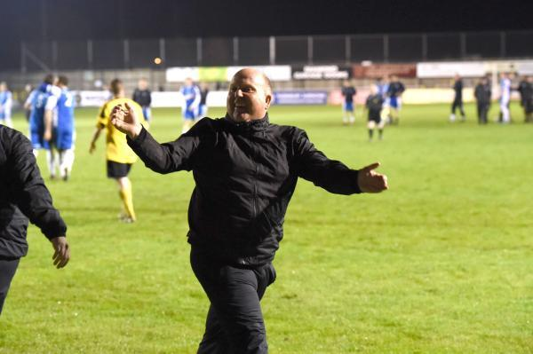This Is Wiltshire: Melksham Town manager Darren Perrin saw his team beat Warminster Town last night