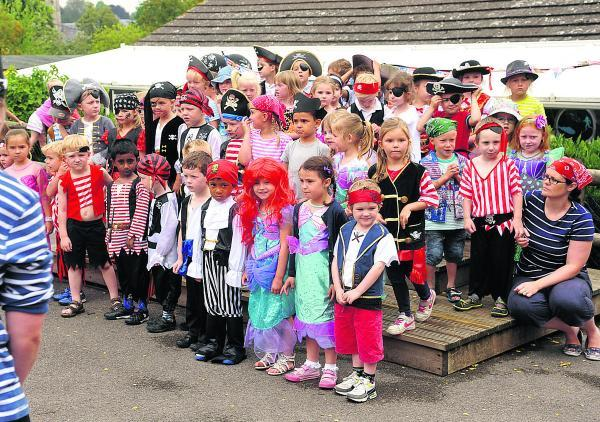 This Is Wiltshire: Little pirates enjoyed singing, dancing and other activities