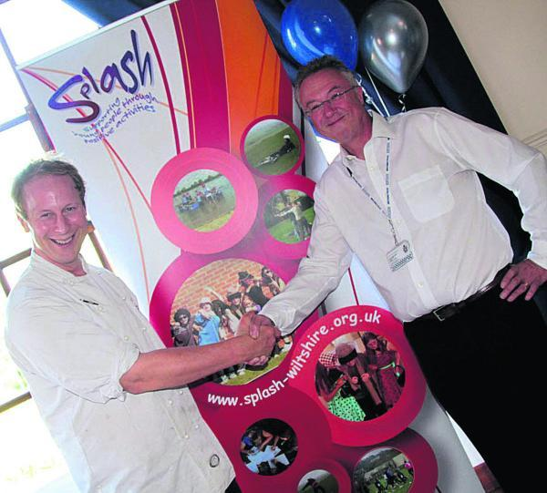 This Is Wiltshire: Peter Vaughan, new Splash patron with Peter Duke, vice chairman of the Splash board