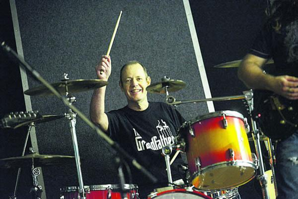 This Is Wiltshire: Gerry Hunt in action on the drums