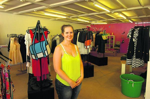 This Is Wiltshire: Kerry Isom in her new boutique Funk & Chic in the former Dentons shop