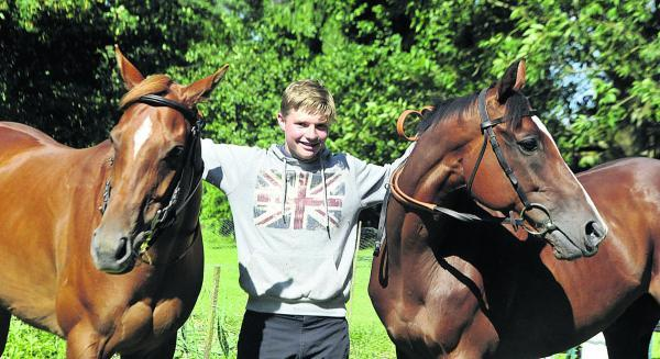 This Is Wiltshire: Sam Burton, with his ponies (l-r) Just Cruzin and Just Jack will ride for his country in Ireland next month Picture by Siobhan Boyle (SMB019-6)