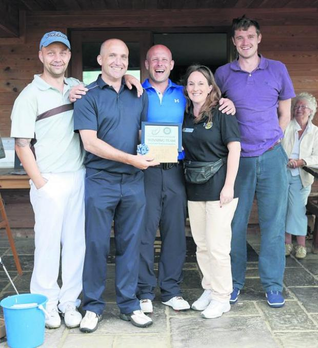 This Is Wiltshire: Fisherman's Friend, the winners of the golf competition held by the Rotary Club of Wootton Bassett Town for Prostate Cancer UK