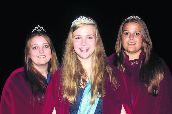 This Is Wiltshire: Attendant Lauren Pound, Carnival Queen Eleanor Smith and attendant Louise Banting