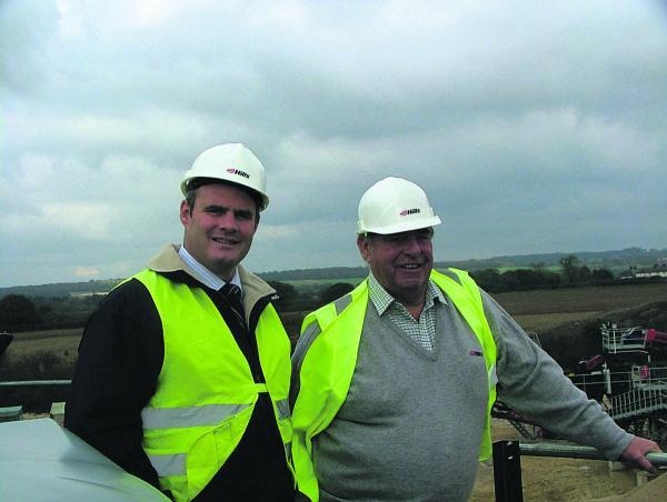 This Is Wiltshire: Robert Hill, one of the leading lights of the Hills Group, with his son Michael, who is now the firm's chief exectutive
