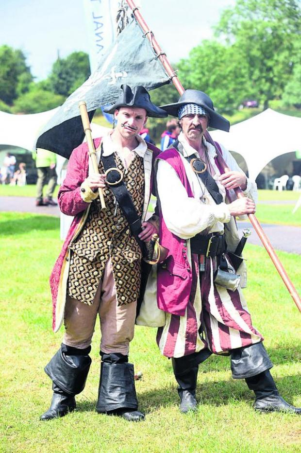 This Is Wiltshire: Ricky Stardust, left, and Brett Mayfield came from Bristol for the river festival