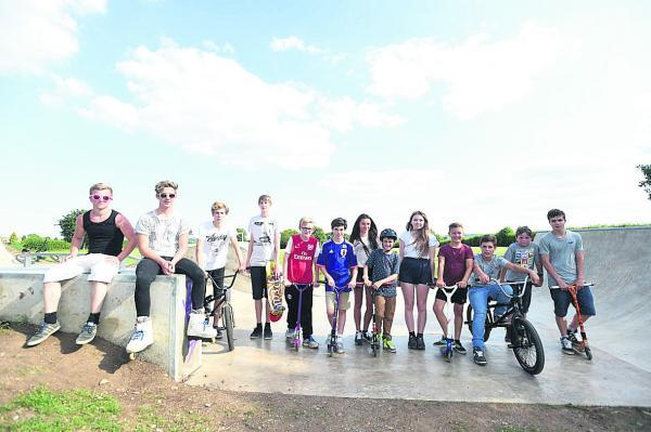 This Is Wiltshire: Colerne's skate park opens to youngsters                (dv1482) By diane vose
