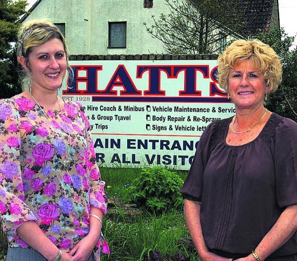 This Is Wiltshire: Carly and Jill Hillier in happier times at the company's headquarters in Foxham, near Chippenham