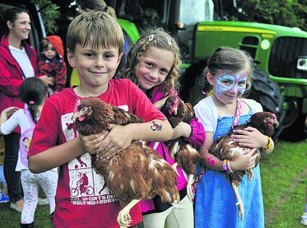 This Is Wiltshire: Daniel, Pippa and Emer meet some Paxcroft Farm chickens