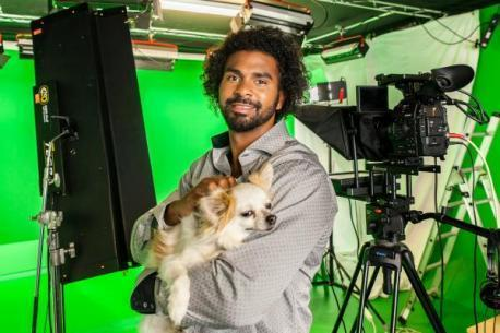 This Is Wiltshire: Former boxer and Chihuahua owner David Haye turns weatherman for dogs