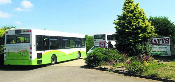 This Is Wiltshire: Buses at Hatts Travel last week
