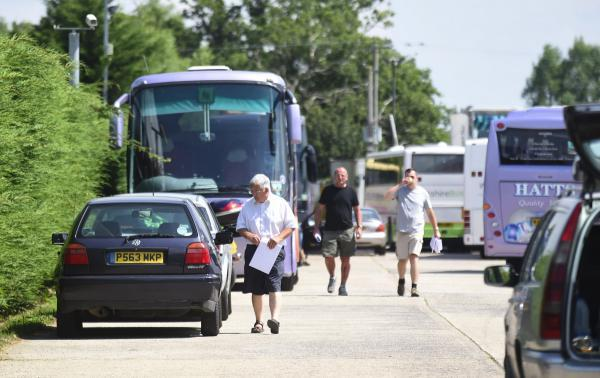 This Is Wiltshire: The scene at Hatts Travel, Foxham, a week ago after the firm folded