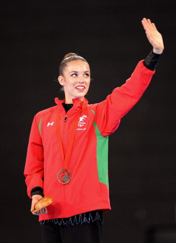 This Is Wiltshire: Laura Halford clebrates with her bronze medal in Glasgow today