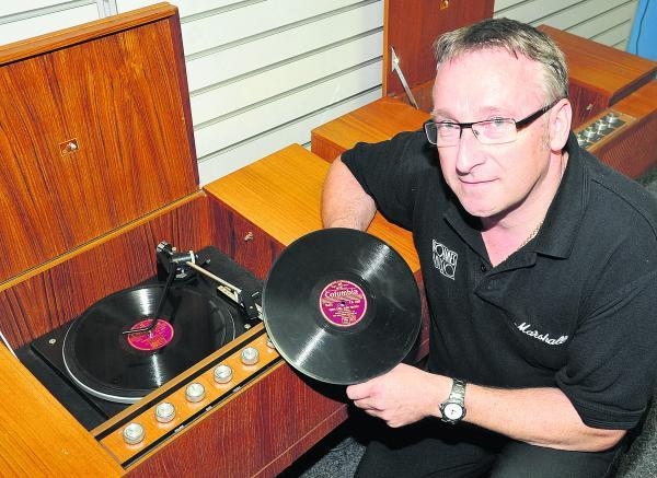 This Is Wiltshire: Alan Holmes with one of the vintage stereos