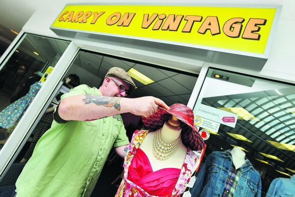 This Is Wiltshire: Steve Stuart of Carry on Vintage, which is celebrating its first anniversary