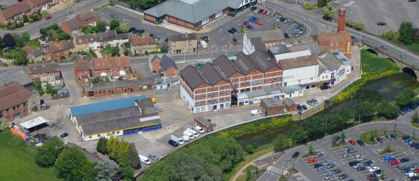 This Is Wiltshire: The former Unigate Dairy in Melksham has been put on the market for £2.75 million