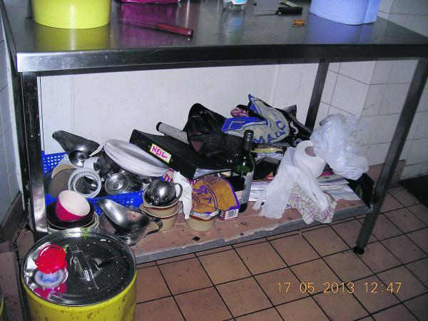This Is Wiltshire: Inspectors visited several times and found the kitchen at the Queens Tap dirty