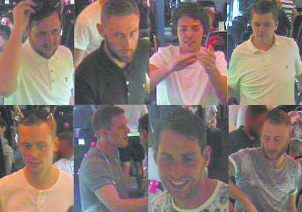 This Is Wiltshire: British Transport Police have released these CCTV images of men they want to speak to