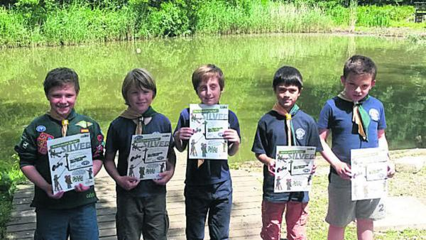 This Is Wiltshire: Adam Hawkins, Aaron Wright, Ethan Hunt, Charlie Rickett and Alexander Grainger with their awards.