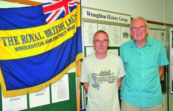 This Is Wiltshire: Wroughton Royal British Legion branch is having an exhibition about the village's experience during the First World War. From left, organiser Ian Woodford and Danny Hicks