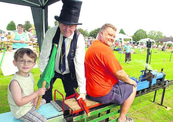 This Is Wiltshire: All the fun of the fete, including a mini steam engine, at Seend  back in 2012